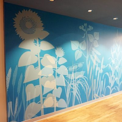 Side View of Syngenta Hallway Graphics