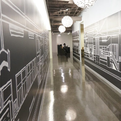 Office Hallway Graphics at Spark
