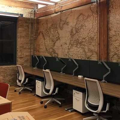 Teys USA Map Wall Graphic Installed In Office Space.