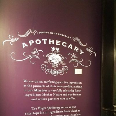 Vosges Haut Chocolat Apothecary Wall Graphic