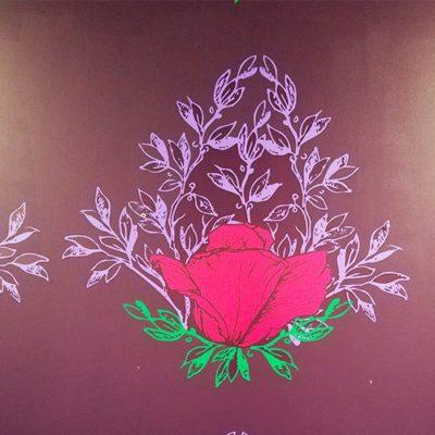 Vosges Haut Chocolat Rose Wall Graphic