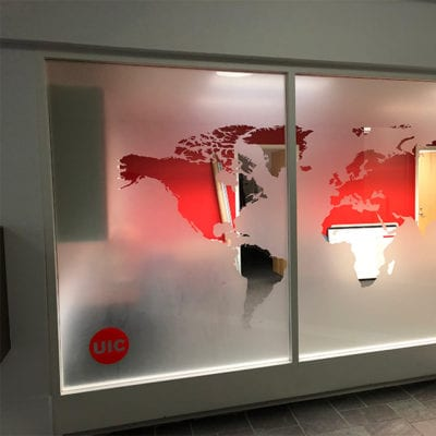 3M Dusted Crystal With Custom Cut Map Graphic