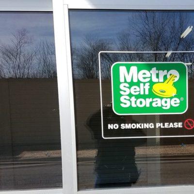 Metro Storage Window Graphic