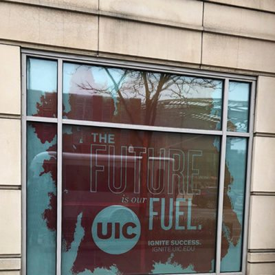 Window Decals Installed for UIC