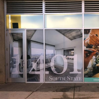Real Estate Window Graphics Promote Property Amenities