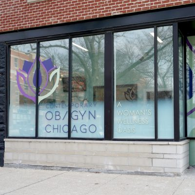 Window Signs for Designed and Installed for Contemporary OBGYN.