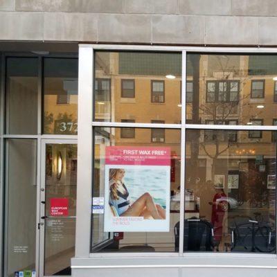 European Wax Center Exterior Window Clings