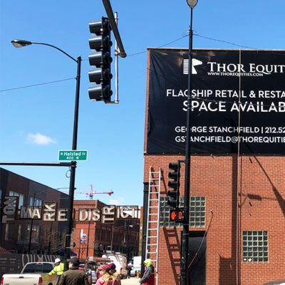 Wide View of Exterior Banner for Thor Equities