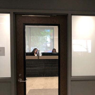 Front Office Window Privacy Film