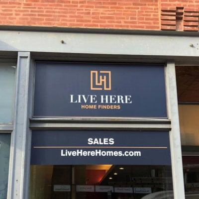 Live Here Chicago Window-Graphics