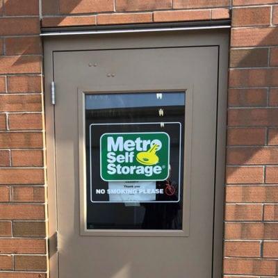 Metro Storage Door Window Graphic