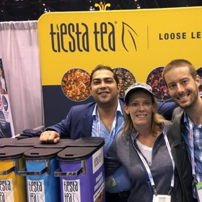 Tiesta Tea Team and Backdrop at Restaurant Show