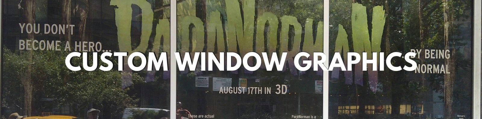 Custom vinyl window graphics window clings decals cushing