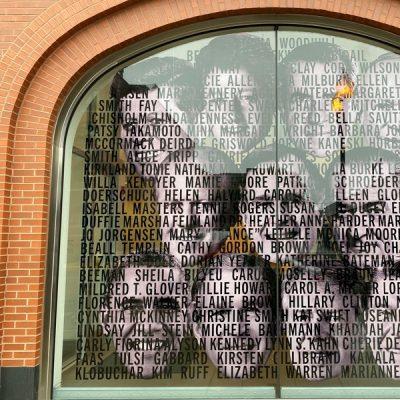 Window Signage at DePaul Art Museum.