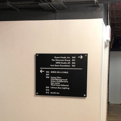 Interior Wayfinding in River North Office Space.