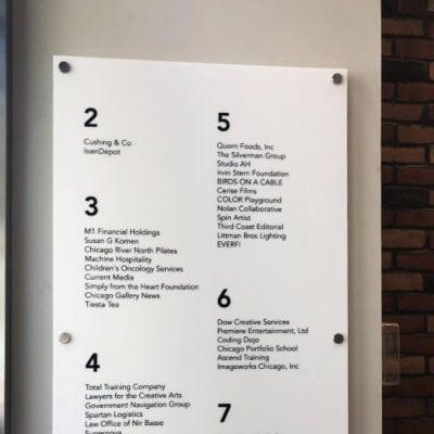 Lobby Directional Signage