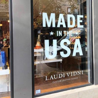 Laudi Vidni Storefront Window Graphics