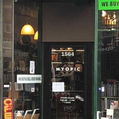 Storefront Window Graphics Myopic Books