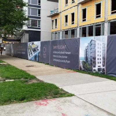 Construction Fence Wrap Graphics