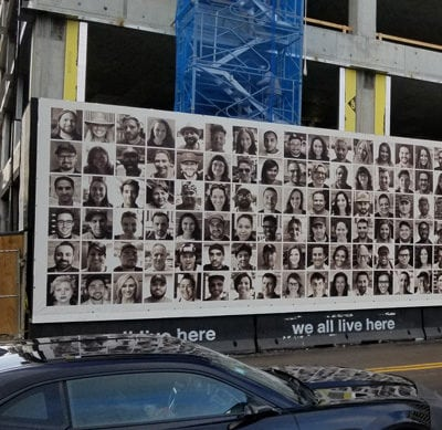 Banners to Promote Office Space at 811 Fulton