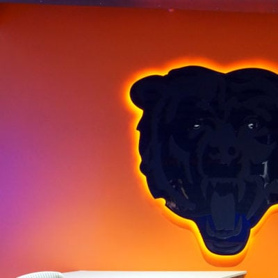 Backlit Acrylic Dimensional Bear Graphic With Standoffs