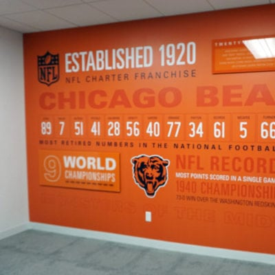 Wall Graphics Printed to Dreamscape Suede With Direct Print to 1/4 Inch Clear Acrylic