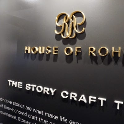 Close Up Dimensional Lettering at House of Rohl