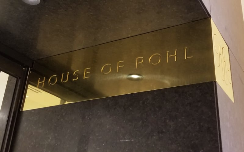 Brass Signage Installed at House of Rohl