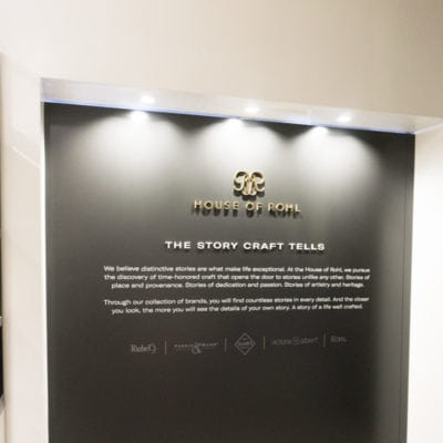 House of Rohl Dimensional Lettering