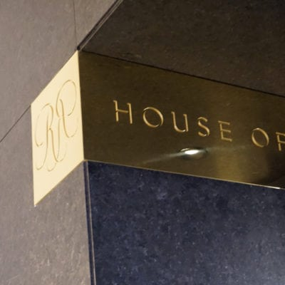 Brass House of Rohl Signage