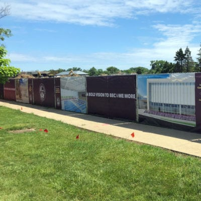 Loyola Academy Fence Wrap