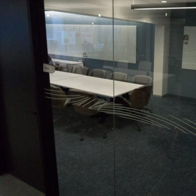 Privacy Film Installed in Conference Room