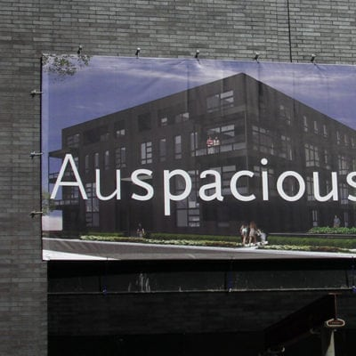 Large Exterior Building Banner