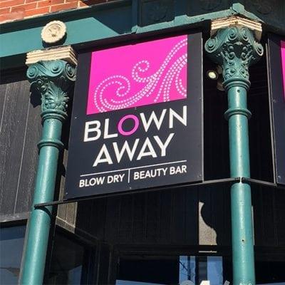 Blown Away Exterior Retail Signage