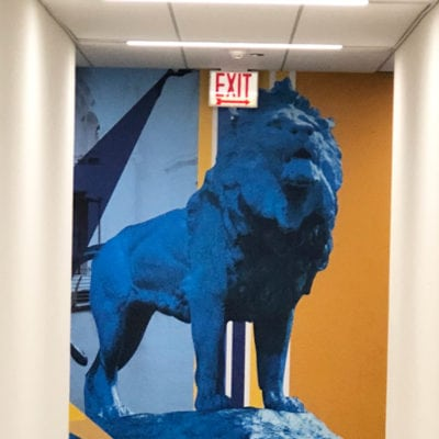 wide Image of Wall Graphic at CBRE