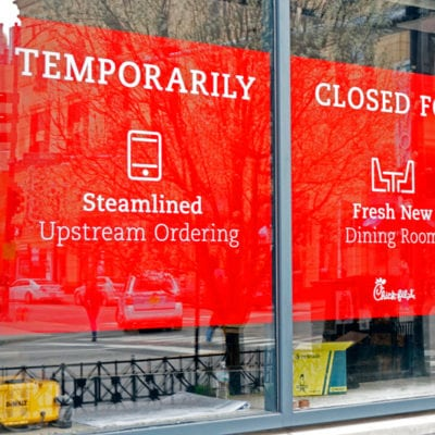 Window Signage Shares Messaging on Store Updates
