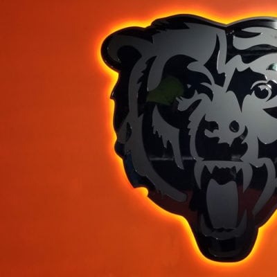 Acrylic Bears Logo for Chicago Office