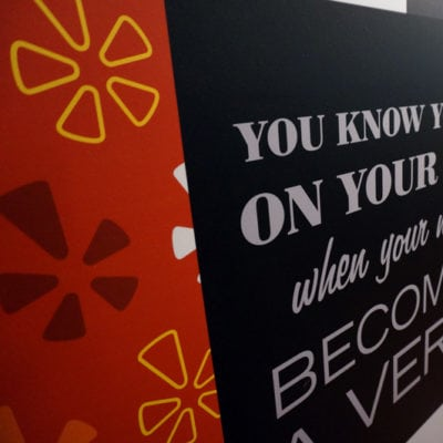 Another Close Up of Wall Graphics Alternate Messaging (Print and Install Using Dreamscape Suede Wallcovering)