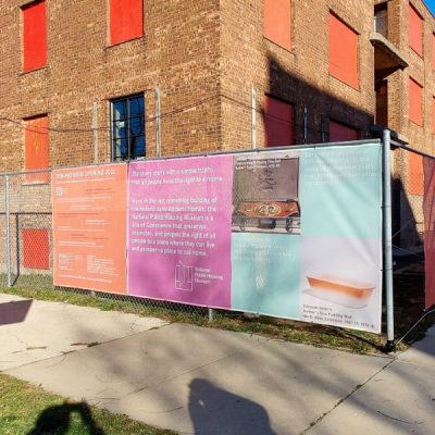 Fence Banner Screens Installed for National Public Housing Museum.