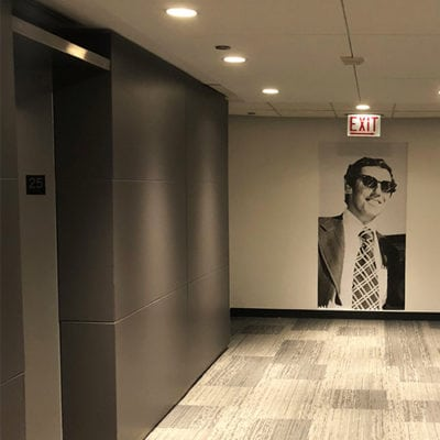 Founder Wall Graphic Golin