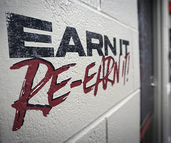 Gameplan Creative Earn It Re-Earn It Wall Graphic