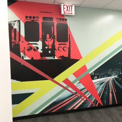 CBRE Rosemont Office Wall Graphic