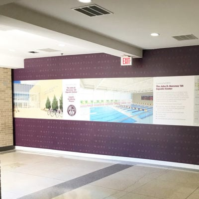 Loyola Academy Wall Graphic