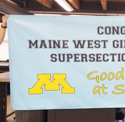 Congratulatory Banner for Maine West