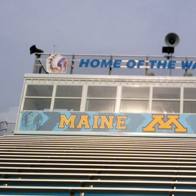 Announcer Booth Large Banner at Maine West
