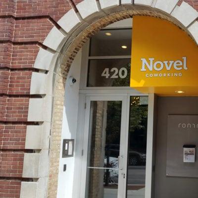 Novel CoWorking Exterior Signage