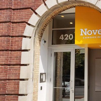 Novel Coworking Exterior Sign