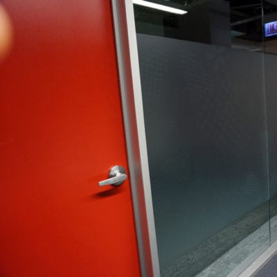 Privacy Film Printed and Installed in Small Meeting Room