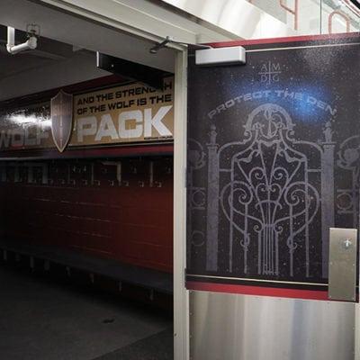 Protect the Den Door Graphic Ice Arena Gameplan Creative
