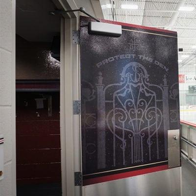 Protect the Den Door Graphic MB Ice Arena Gameplan Creative